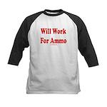 Will Work For Ammo Kids Baseball Jersey
