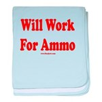 Will Work For Ammo baby blanket