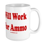 Will Work For Ammo Large Mug