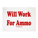 Will Work For Ammo 5'x7'Area Rug