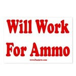 Will Work For Ammo Postcards (Package of 8)