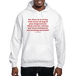Black Interior Cars Hooded Sweatshirt