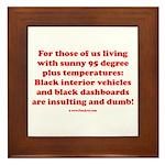 Black Interior Cars Framed Tile