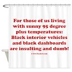 Black Interior Cars Shower Curtain