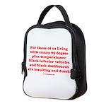 Black Interior Cars Neoprene Lunch Bag