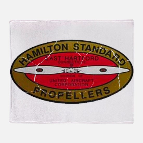 Retro Hamilton Standard Propellers Logo Throw Blan