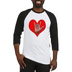 ILY Heart Baseball Jersey