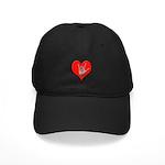 ILY Heart Black Cap