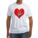 ILY Heart Fitted T-Shirt