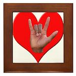 ILY Heart Framed Tile