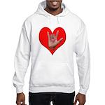 ILY Heart Hooded Sweatshirt