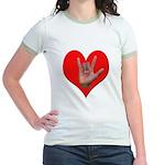 ILY Heart Jr. Ringer T-Shirt