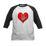ILY Heart Kids Baseball Jersey