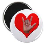 ILY Heart Magnet