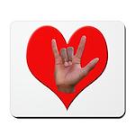 ILY Heart Mousepad