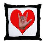 ILY Heart Throw Pillow