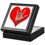 ILY Heart Keepsake Box