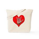 ILY Heart Tote Bag