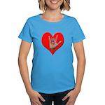 ILY Heart Women's Dark T-Shirt
