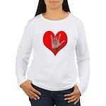 ILY Heart Women's Long Sleeve T-Shirt