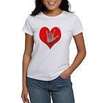 ILY Heart Women's T-Shirt