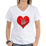 ILY Heart Women's V-Neck T-Shirt