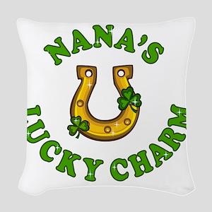 Nana's Lucky Charm Woven Throw Pillow
