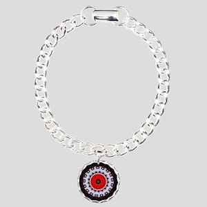 Bold Colourful Art Funky Designer Charm Bracelet,
