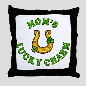 Mom's Lucky Charm Throw Pillow