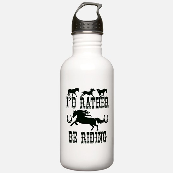 I'd Rather Be Riding H Water Bottle