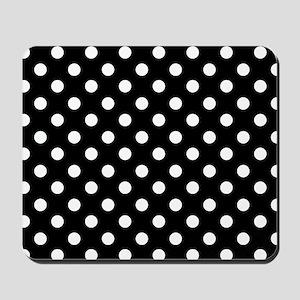 bw-polkadot Mousepad