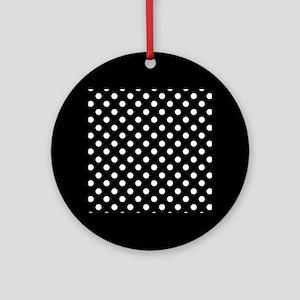bw-polkadot Ornament (Round)