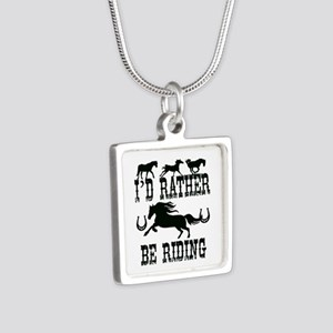 I'd Rather Be Riding Horses Necklaces