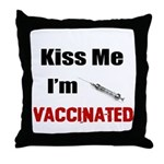 Kiss Me I'm Vaccinated Throw Pillow