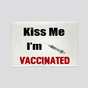 Kiss Me I'm Vaccinated Magnets