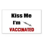 Kiss Me I'm Vaccinated Sticker