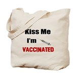 Kiss Me I'm Vaccinated Tote Bag