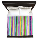 Drippy Trippy Rainbow King Duvet