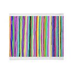 Drippy Trippy Rainbow Throw Blanket