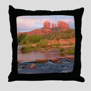 Sedona Red Rock Crossing Throw Pillow