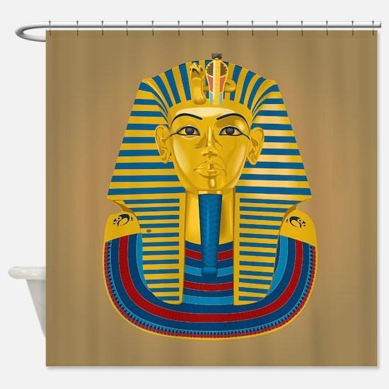King Tut on Sand Shower Curtain