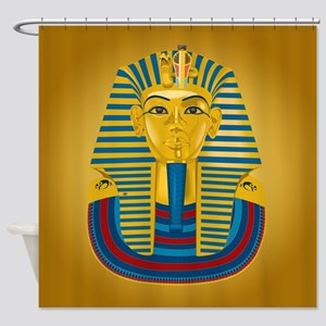 King Tut on Gold Shower Curtain
