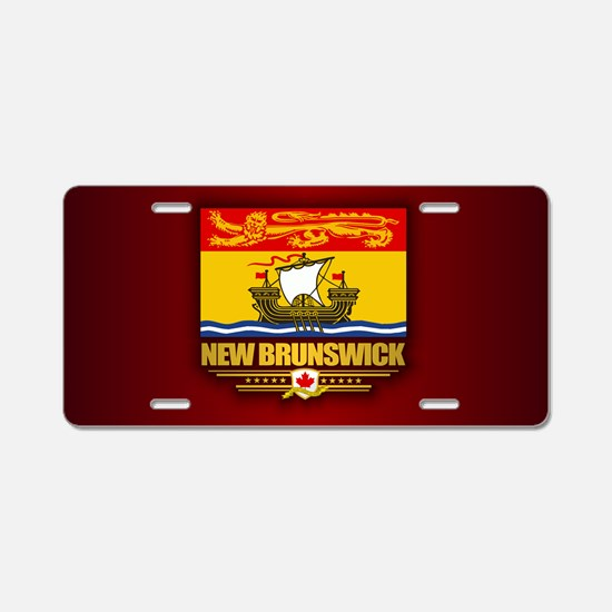 New Brunswick Flag Aluminum License Plate