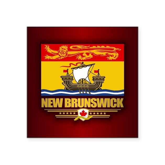New Brunswick Flag Sticker By FlagAmericas