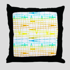 Colourful Splatter Patterns 123 Throw Pillow