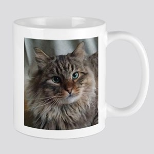 Siberian Tabby Cat face Mugs