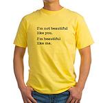 Beautiful Like Me Yellow T-Shirt