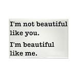 Beautiful Like Me Rectangle Magnet (10 pack)