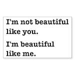 Beautiful Like Me Sticker (Rectangle)