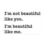 Beautiful Like Me 35x21 Wall Decal